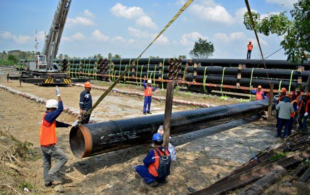 Pipa Gas Gresik-Semarang Rampung Pertengahan 2018