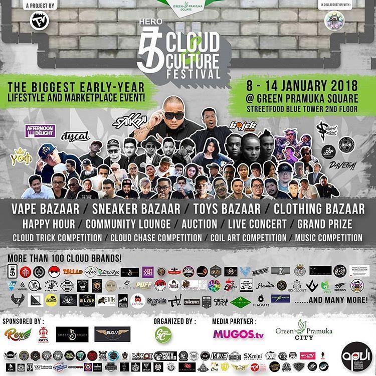 Komunitas Vape Gelar Cloud Culture Festival
