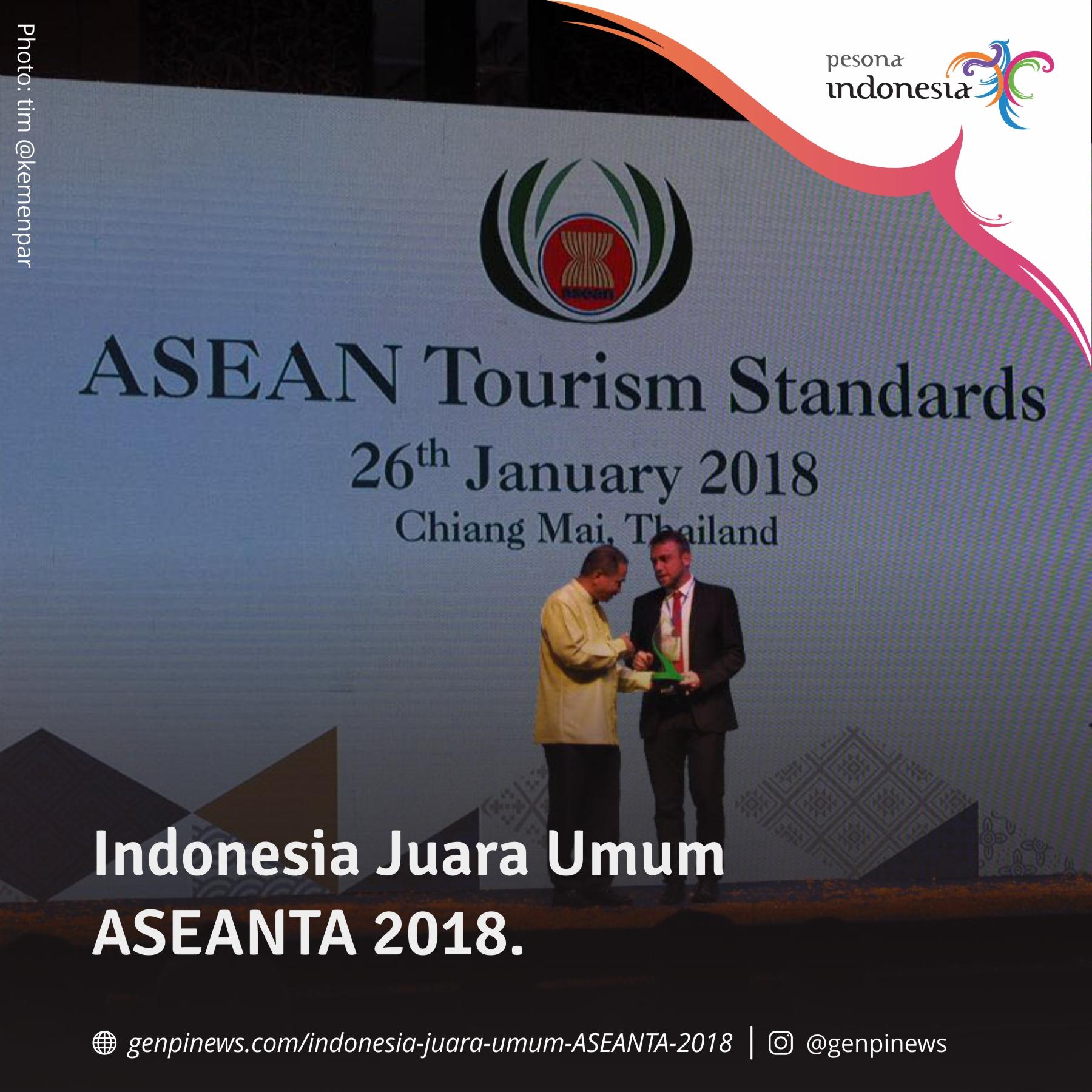 Indonesia Juara Umum ASEAN Tourism Award