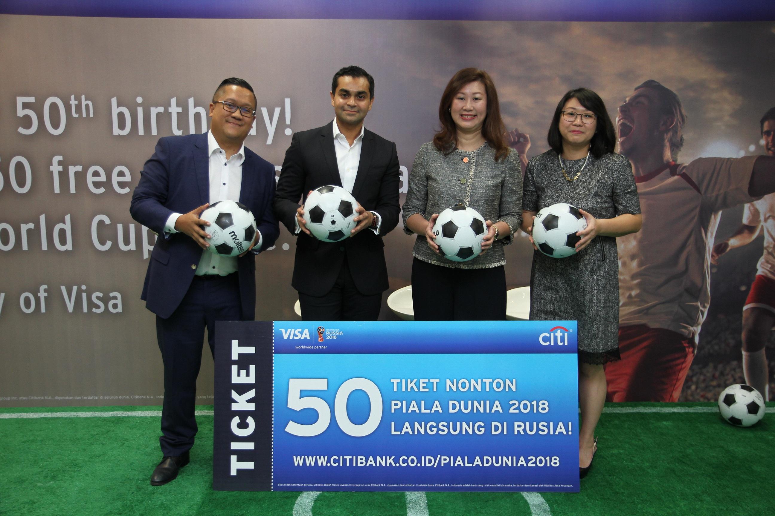 Citibank Indonesia dan VIVA akan Terbangkan 50 Orang Nonton Piala Dunia di Rusia