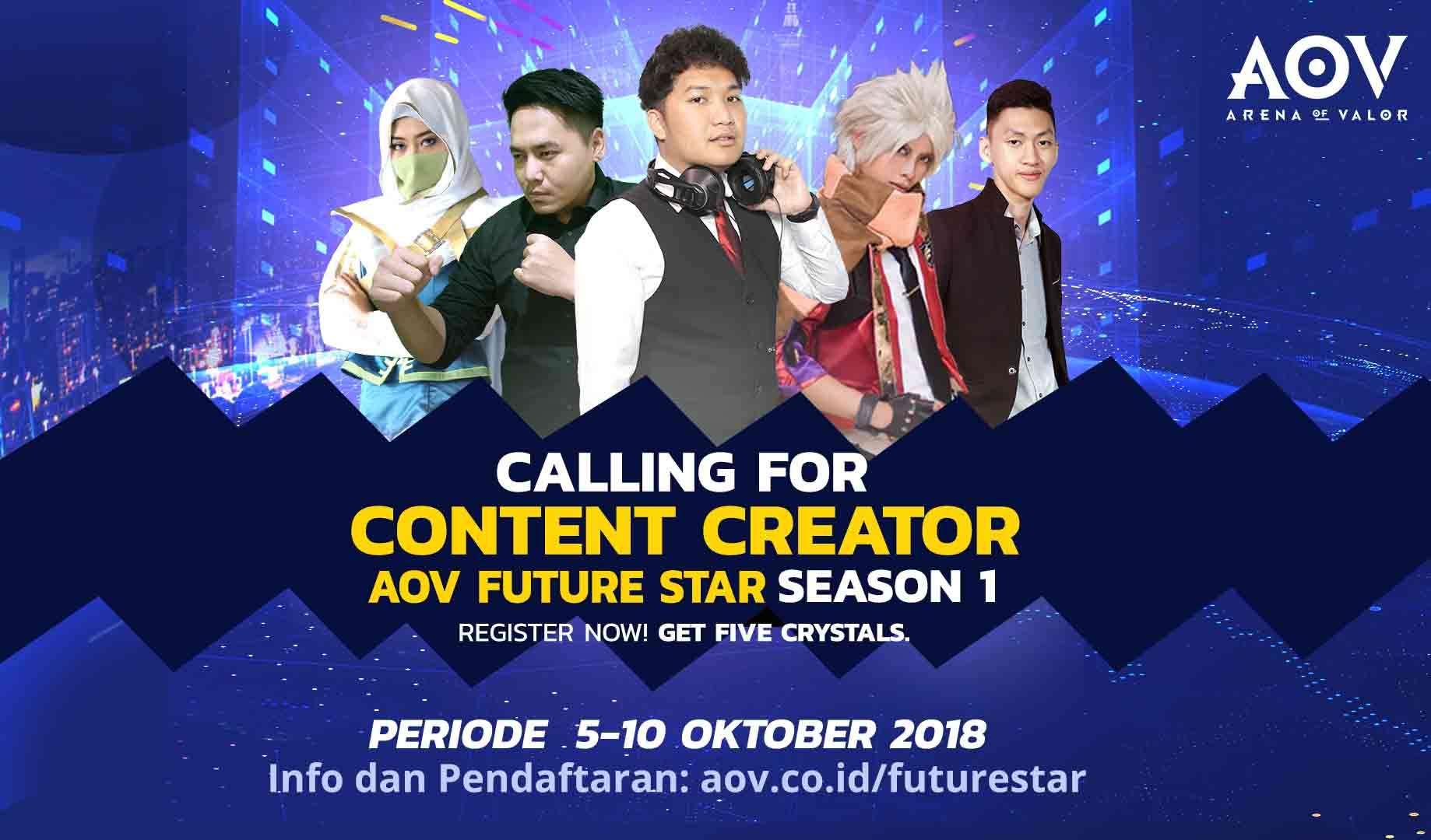 Garena Gandeng Tencent buka program AOV Future Star untuk Konten Kreator Indonesia