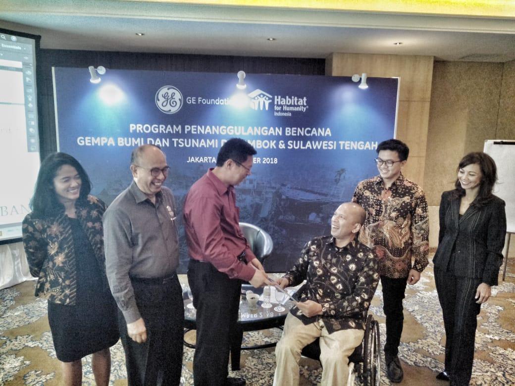 GE Foundation Bangun Air Bersih dan Sanitasi di Lombok dan Palu