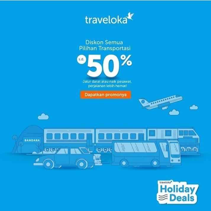 Traveloka Beri Potongan 50 Persen untuk Seluruh Produk Transportasi