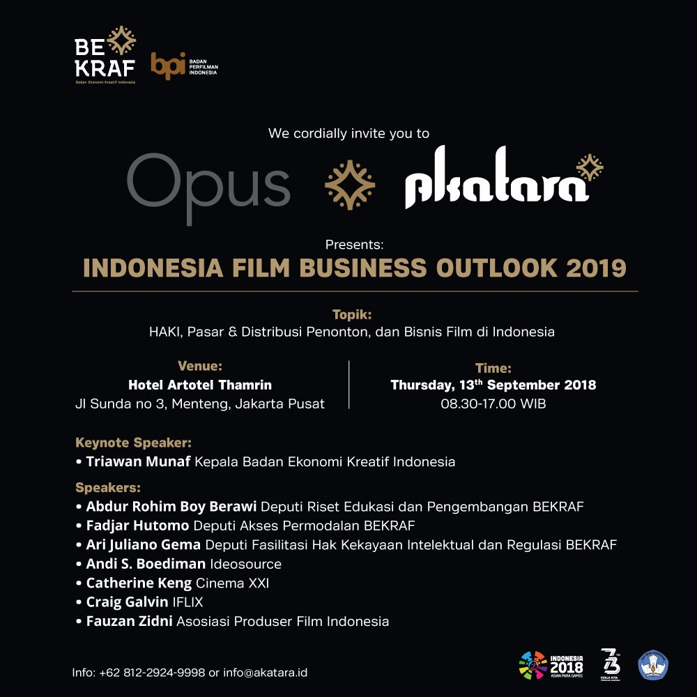 Bekraf Gelar Indonesia Film Business Outlook 2019