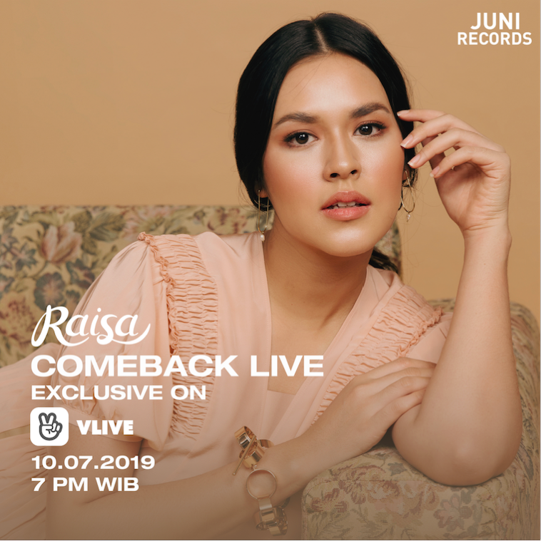Raisa Live Single Terbarunya di Platform Video Streaming Milik Korea
