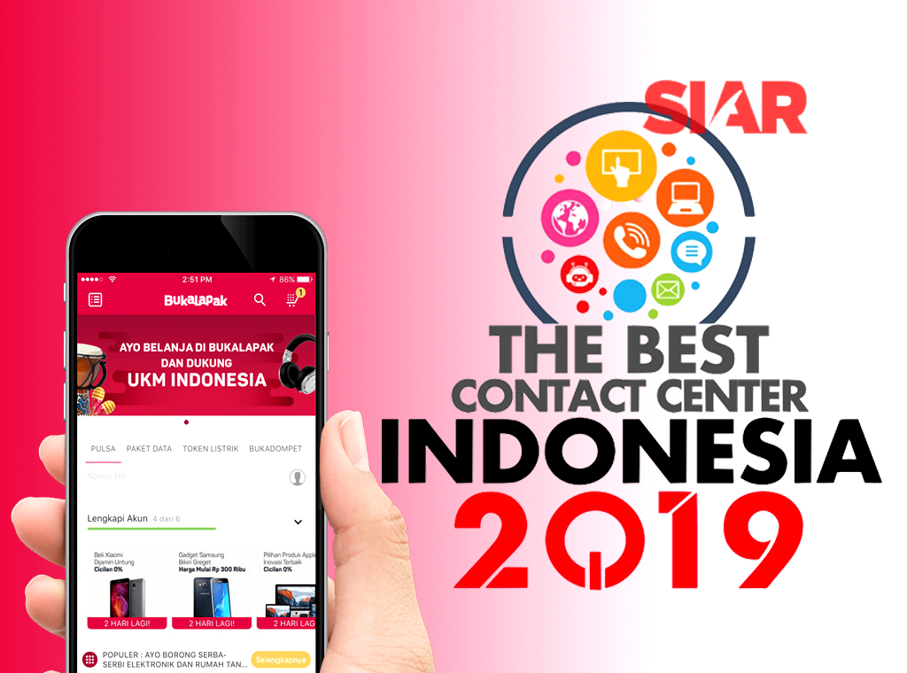 Bukalapak Raih Lagi Gelar The Best Contact Center Indonesia